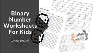 Binary Number Worksheet for kids