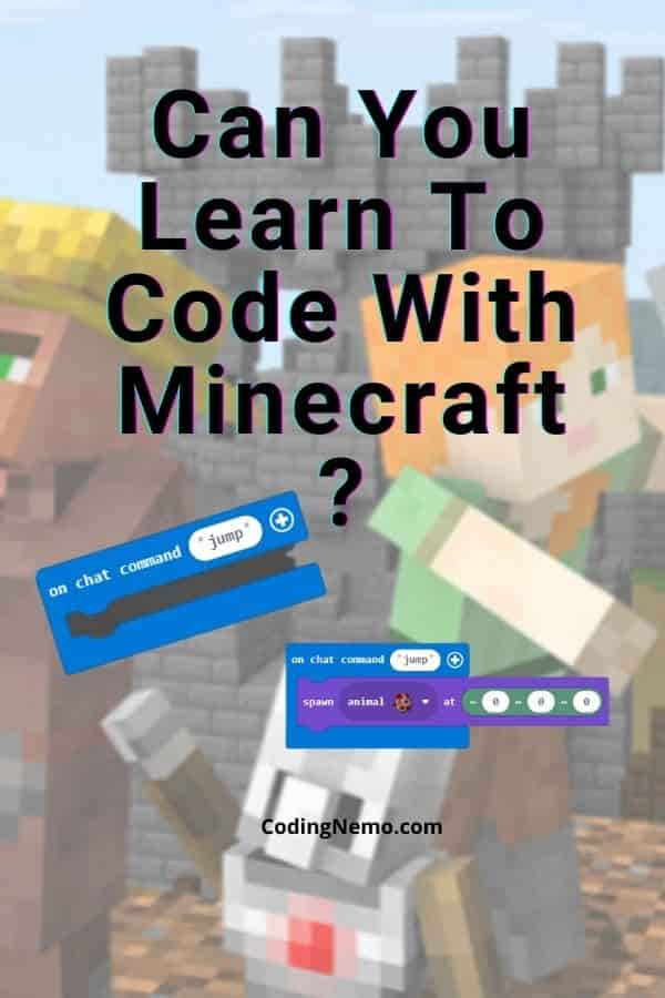 Can You Learn How To Code with Minecraft? - Pinterest graphic