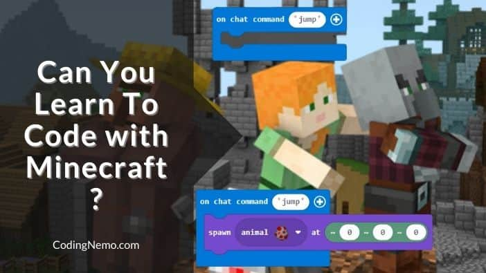 learn how to code with minecraft