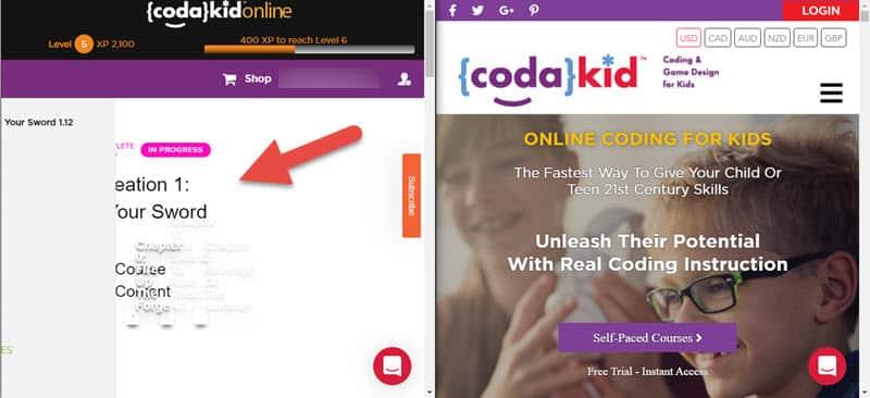 Codakid user interface design issue