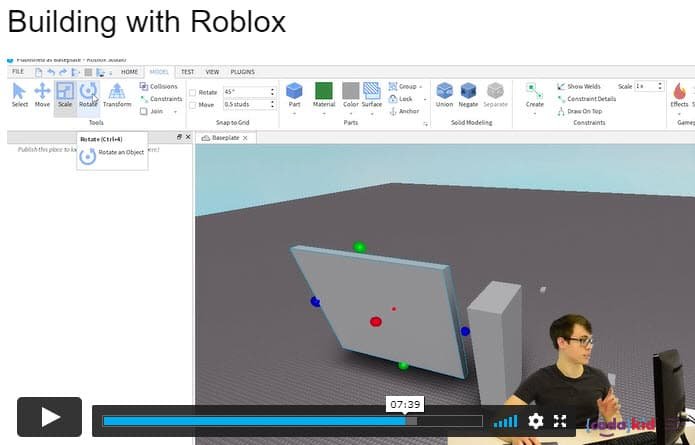 Screenshot of Codakid- Roblox Programming