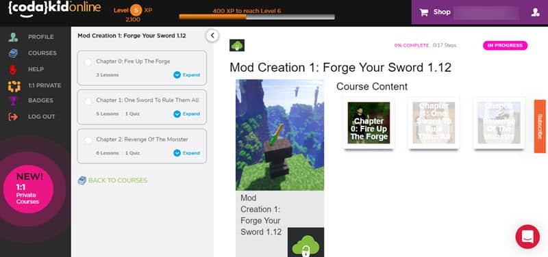 "Inside Codakid's  ""Mod Creation 1: Forge Your Sword 1.12"""