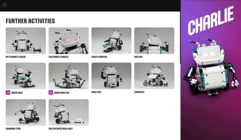 LEGO Mindstorms Robot Inventor App - Further Activities