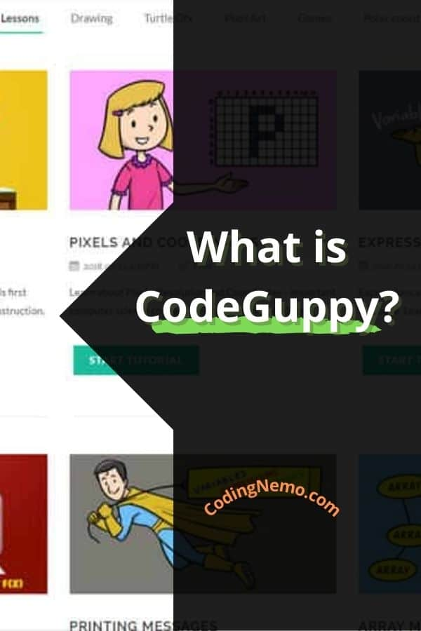 what is CodeGuppy - Pinterest graphic